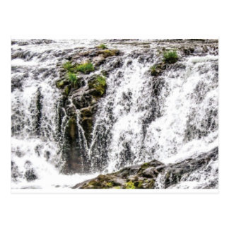 rocks fall over the falls postcard