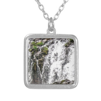rocks fall over the falls silver plated necklace