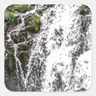 rocks fall over the falls square sticker