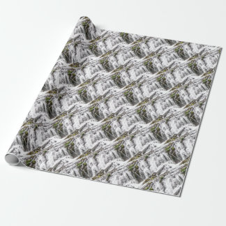 rocks fall over the falls wrapping paper