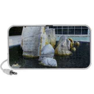 Rocks In A Fountain Travel Speakers