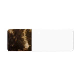 Rocks in a Glade by Camille Corot Return Address Labels