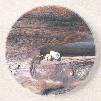 Rocks In Log Drink Coasters