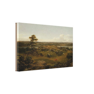 Rocks in New England by Martin Johnson Heade Canvas Print