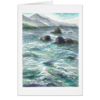 Rocks in Oregon ocean Card