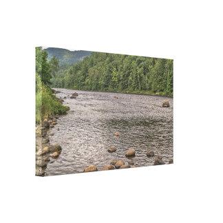Rocks in the Hudson RiverHudson Canvas Print
