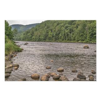 Rocks in the Hudson River- New York Photo Print