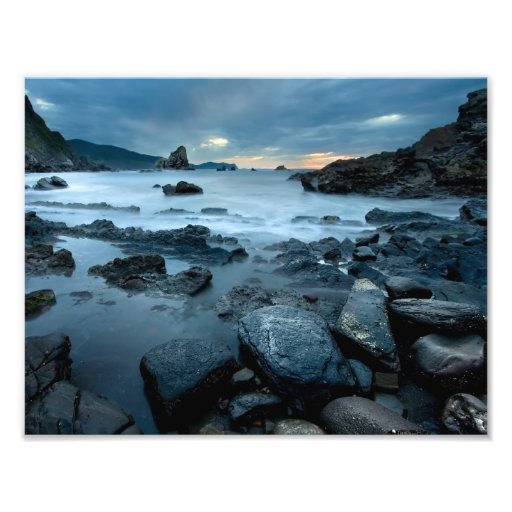 Rocks in the sea photographic print