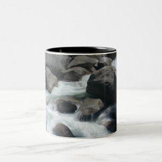 Rocks - Merced River Two-Tone Coffee Mug