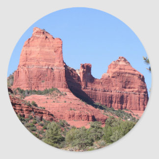 Rocks near Sedona, Arizona Classic Round Sticker