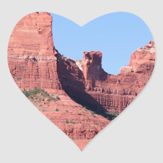 Rocks near Sedona, Arizona Heart Sticker