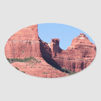 Rocks near Sedona, Arizona Oval Sticker