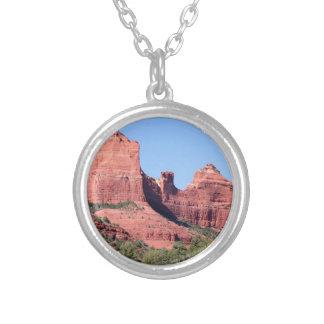 Rocks near Sedona, Arizona Silver Plated Necklace