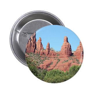 Rocks near Sedona, Arizona,USA 2 2 Inch Round Button