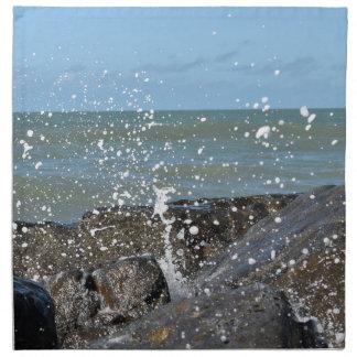 ROCKS ON BEACH QUEENSLAND AUSTRALIA NAPKIN
