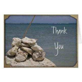 Rocks on Beach Thank You Card