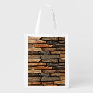 rocks reusable grocery bag