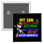 Rocks Spectrum Autism Son 2 Inch Square Button