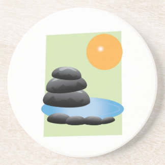 Rocks & Water Beverage Coasters