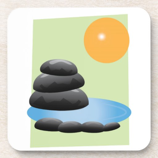Rocks & Water Drink Coaster