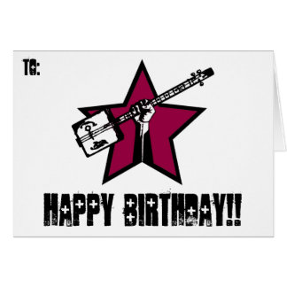 """RockStar"" Birthday cards"