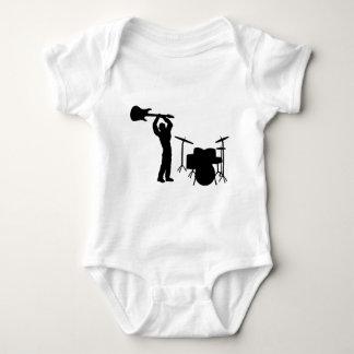 Rockstar drum guitar smasher baby bodysuit