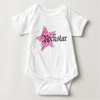Rockstar girl baby bodysuit