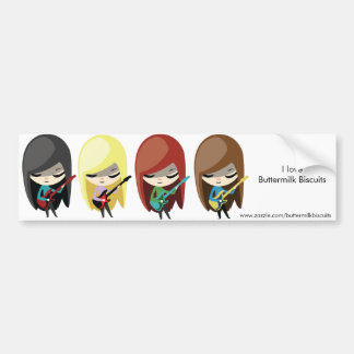 Rockstar Girls Bumpersticker Bumper Sticker