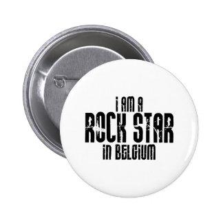 Rockstar In Belgium Pinback Buttons