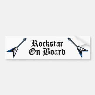 Rockstar On Board Bumper Sticker