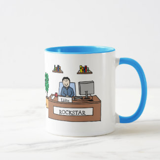 Rockstar - personalized cartoon mug