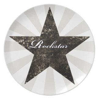 Rockstar Plate (grunge textures - dark)