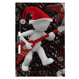 rockstar santa dry erase board