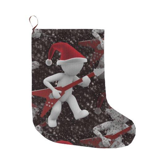 rockstar santa xmas christmas stocking large christmas stocking