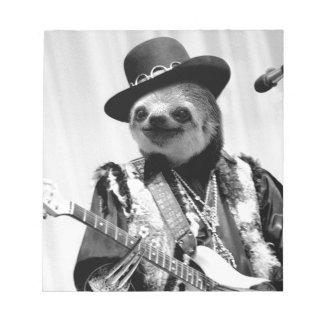 Rockstar Sloth #2 Notepad