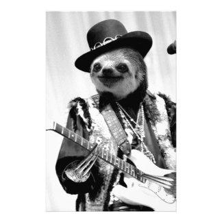 Rockstar Sloth #2 Stationery