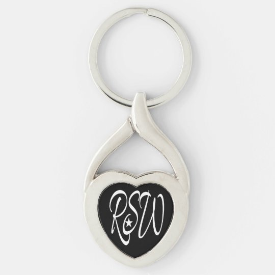Rockstar Women With MS Twisted Heart Keychain