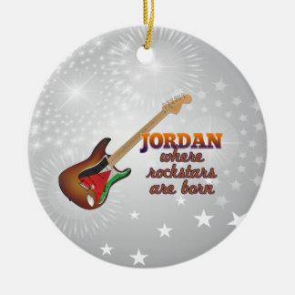 Rockstars are born in Jordan Round Ceramic Ornament