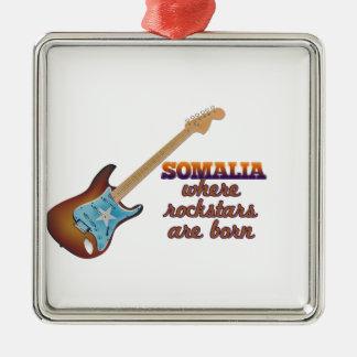 Rockstars are born in Somalia Christmas Tree Ornaments