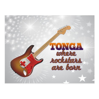 Rockstars are born in Tonga Postcard