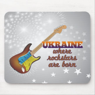 Rockstars are born in Ukraine Mouse Pad