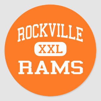 Rockville - Rams - High - Silver Spring Maryland Classic Round Sticker