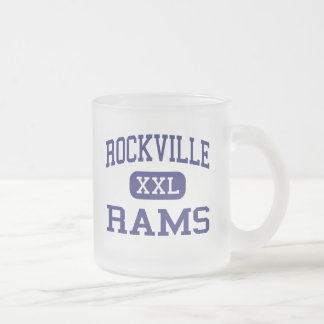 Rockville - Rams - High - Vernon Connecticut Frosted Glass Coffee Mug