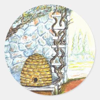 rockwall crop classic round sticker