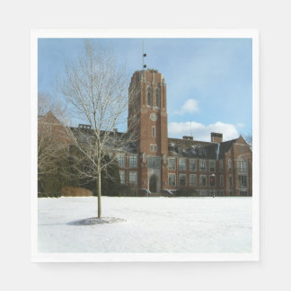 Rockwell in Winter at Grove City College Paper Napkin