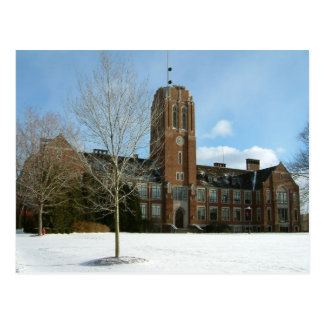 Rockwell in Winter at Grove City College Postcard