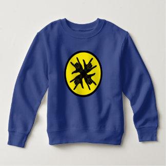 Rockwell style blue sweatshirt