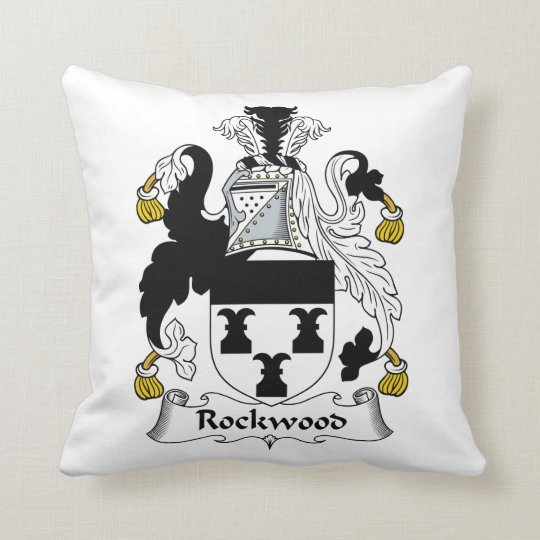 Rockwood Family Crest Throw Pillow