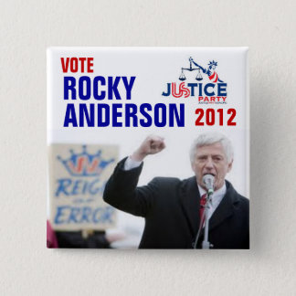 Rocky Anderson 2012 2 Inch Square Button