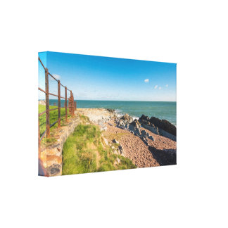 Rocky beach in Ireland Canvas Print